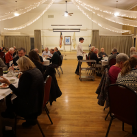 Friday night dinner at Woodfords Club members